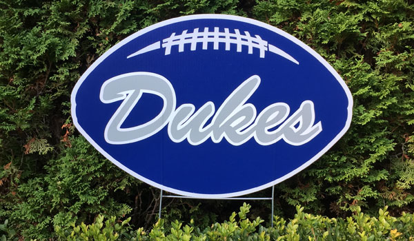 Blue Dukes Yard Sign