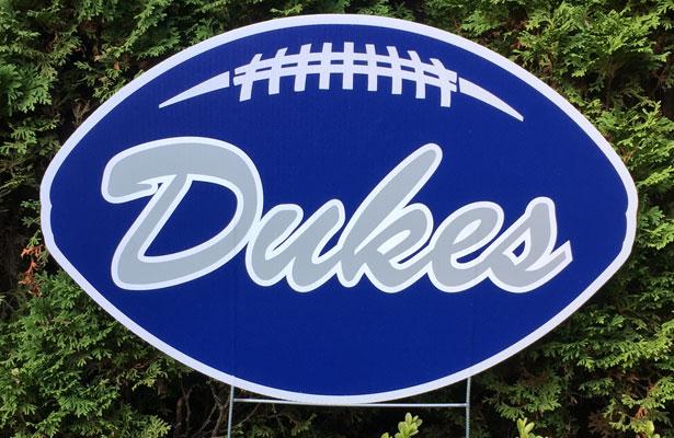 Blue Dukes Yard Sign