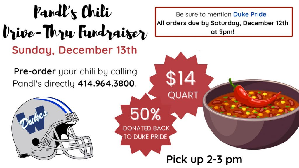 Pandl's Chili Drive-Thru Fundraiser | Dec 13, 2020| 2:00-3:00 pm